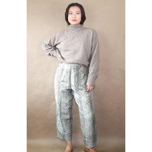 (444) vtg 80s snakeskin silk high waisted pants